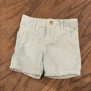 Janie and Jack seersucker shorts